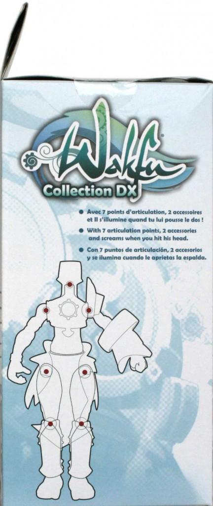 Côté droit du packaging de figurine DX de Nox (Wakfu)