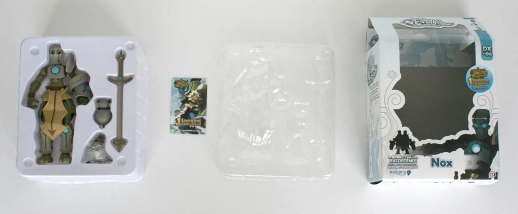 Contenu de la boîte de la figurine DX de Nox (Wakfu)