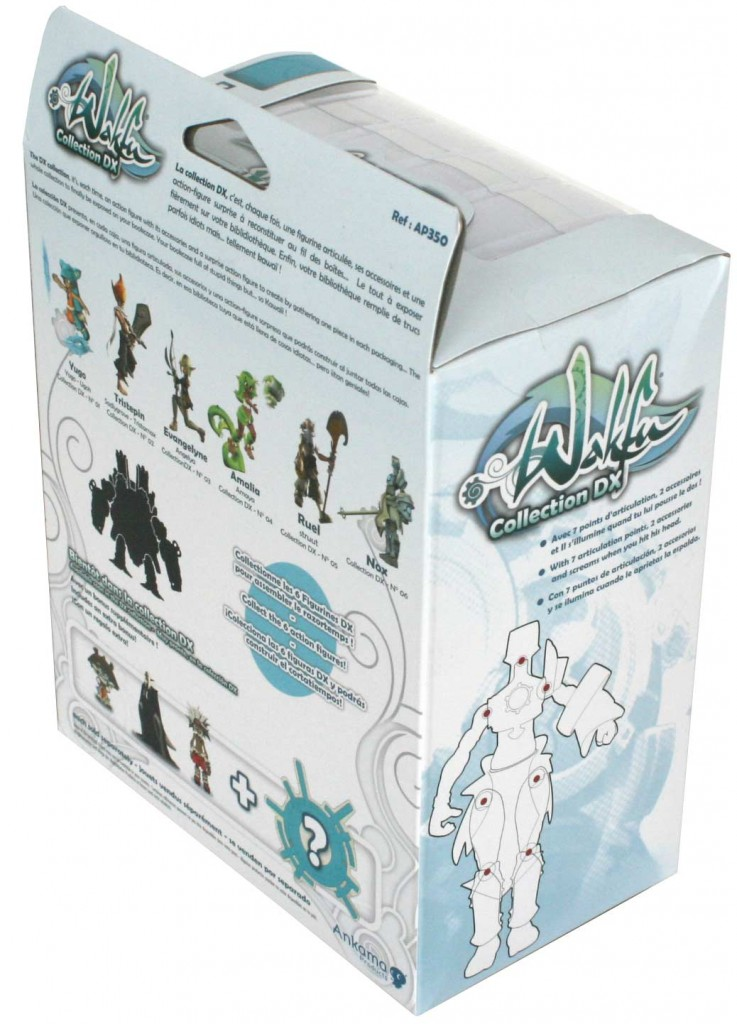 Dos du packaging de figurine DX de Nox (Wakfu)