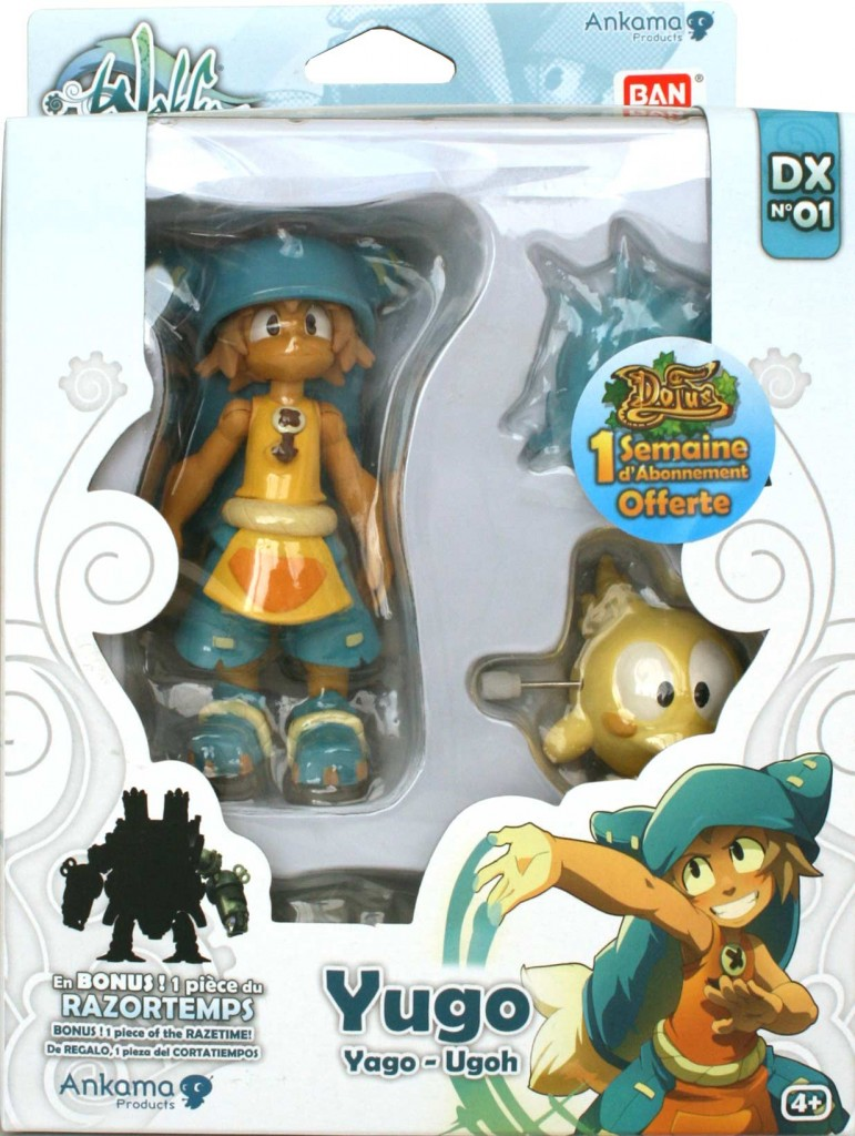 Collection Wakfu DX : packaging de la figurine de Yugo et Az