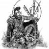 Ner'zhul dans Warcraft, dessin de Chris Metzen