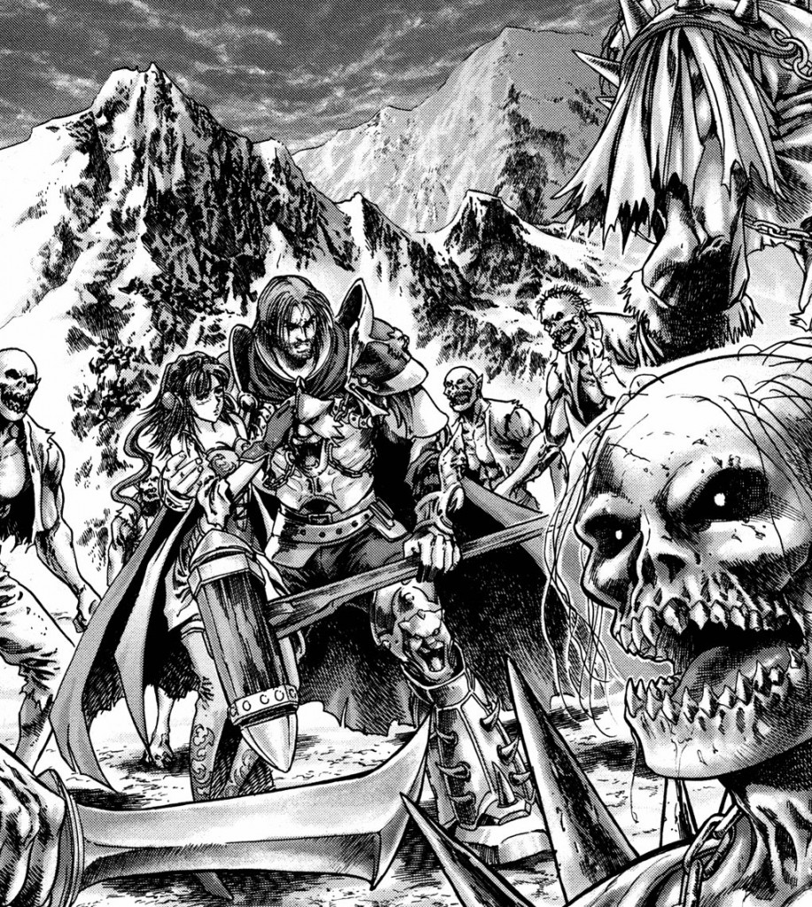 Manga Warcraft Puits Solaire Tome 2 : le paladin Jarod defend le dragon bleu sous forme elfe Tyri