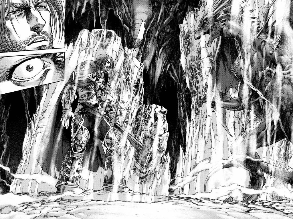 Manga Warcraft Puits Solaire Tome 2 : Jarod et le dragon Tyri dans un bloc de glace