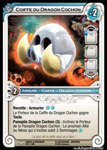 Carte Wakfu TCG de la Coiffe du Dragon Cochon