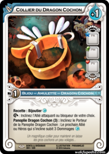 Carte Wakfu TCG du Collier du Dragon Cochon