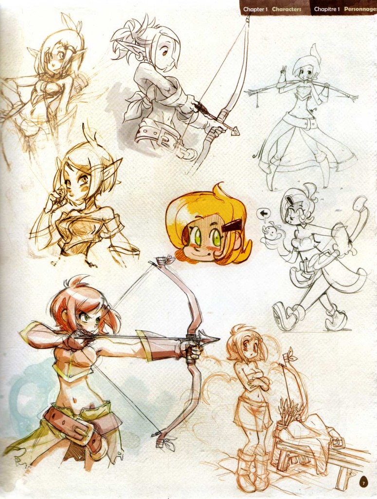 Page 7 de l'Art book de Dofus 2.0
