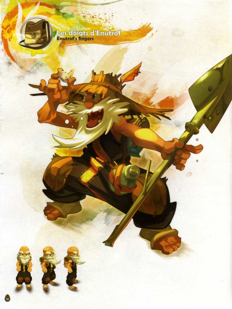 Page 12 de l'Art book de Dofus 2.0