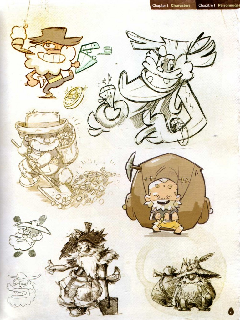 Page 13 de l'Art book de Dofus 2.0