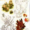 Page 58 de l&#039;Art book de Dofus 2.0