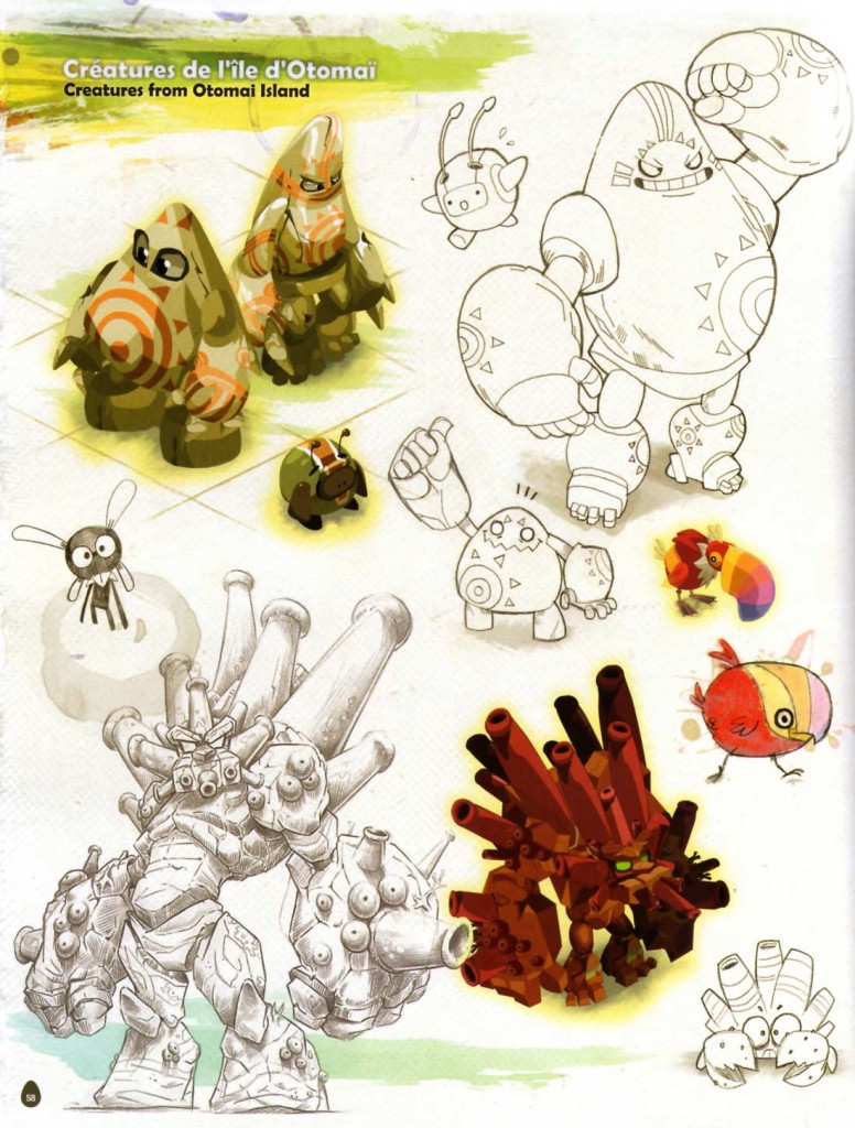 Page 58 de l'Art book de Dofus 2.0