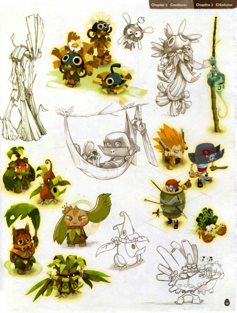 Page 59 de l'Art book de Dofus 2.0