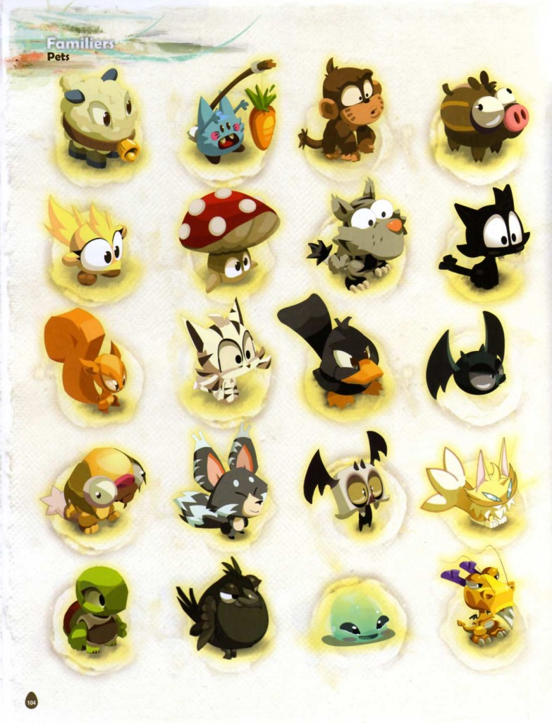 Page 104 de l'Art book de Dofus 2.0