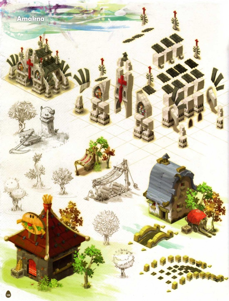 Page 108 de l'Art book de Dofus 2.0