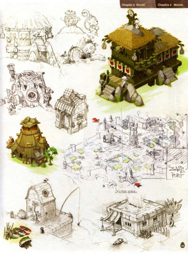 Page 109 de l'Art book de Dofus 2.0