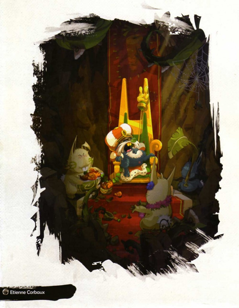 Page 142 de l'Art book de Dofus 2.0