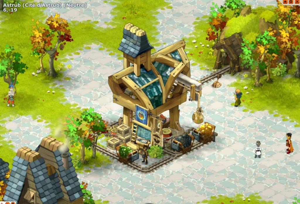 Ville d'Astrub dans le jeu en ligne Dofus