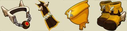 La nouvelle panoplie du Dragon Cochon du jeu Dofus, édité pour la sortie de l'épisode 5 de la saison 2 de Wakfu