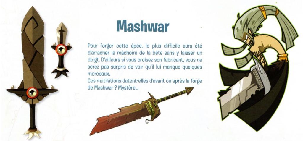 Rubilax a été forgée à partir de l'épée maléfique Mashwar (Dofus -wakfu)