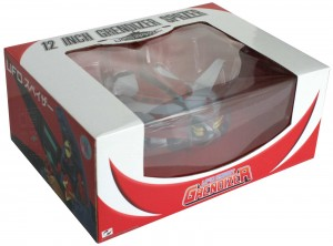 Packaging du Goldorak dans sa soucoupe (High Dream - 34 cm)