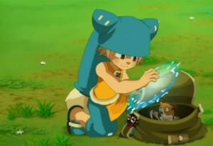 Yugo et Admaï aident Amalia à capturer les gerbilles