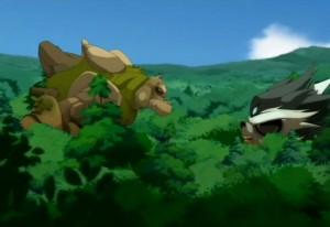 Adamaï invoque un craqueleur géant pour affronter le gerbille