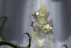 Une apparition végétale de Tristepin apporte quelques informations supplémentaires à Evangelyne