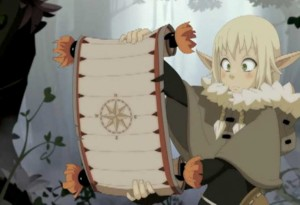 Tristepin lui demande de revenir sur ses pas, Evangelyne décide contrôler avec la carte la position de Rubilaxia