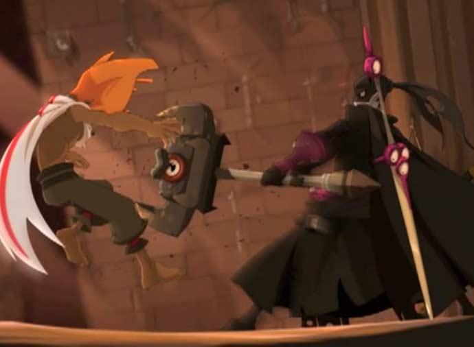 Remington prend une arme du mur pour neutraliser Rubilax