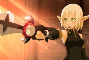 Evangelyne parvient à s'emparer de l'épée de Tristepin (Wakfu)