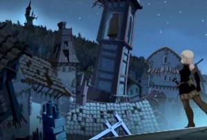 Evangelyne veut retourner au château pour récupérer le corps de Tristepin