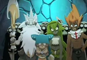 Rubilax emmène Yugo devant un miroir magique qui permet de parler à Rushu