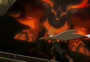Rubilax détruit le miroir magique qui lui permettait de parler à Rushu