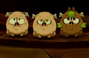 Yugo, Amalia et Evangelyne ont été transformés en Dragon Cochon (Wakfu ep 32)