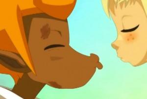 Finalement les gargouillis du ventre de Tristepin vont faire capoter leur premier vrai baiser (Wakfu ep 32)
