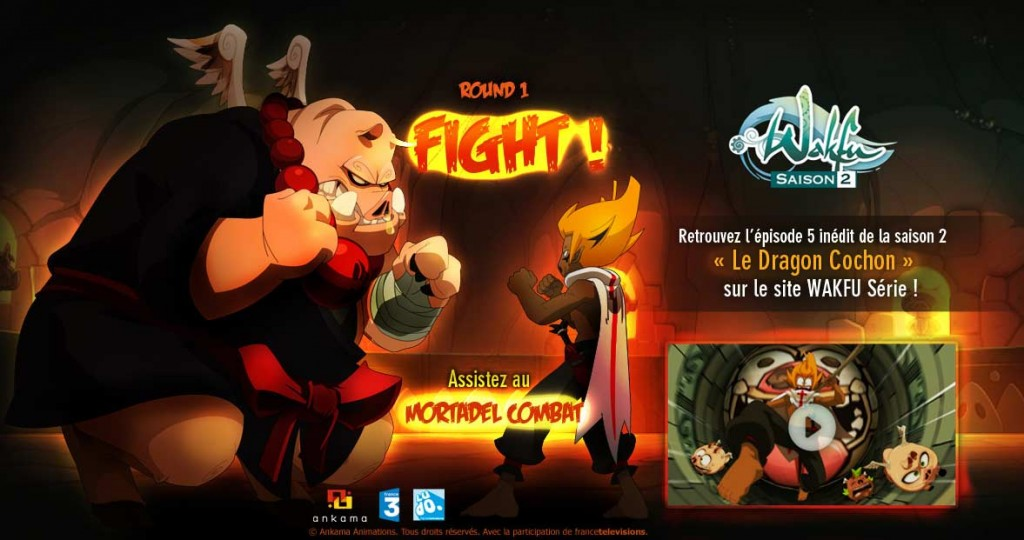 Sur le site d'Ankama, la présentation de l'épisode en streaming fait allusion à Mortal Kombat
