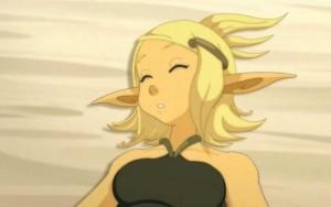 A l'épisode 15, Tristepin trouve Evangelyne inanimé sur la plage