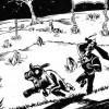 Il ne fait pas bon chasser dans un cimetière, on rencontre parfois des mort-vivants