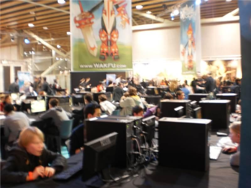 Foule pour jouer aux jeux vidéos Ankama au salon Ankama Convention #6
