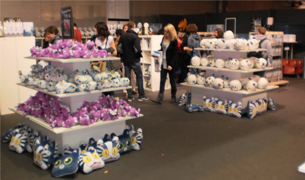Peluches Ankama à l'ankama shop du salon Ankama Convention #6