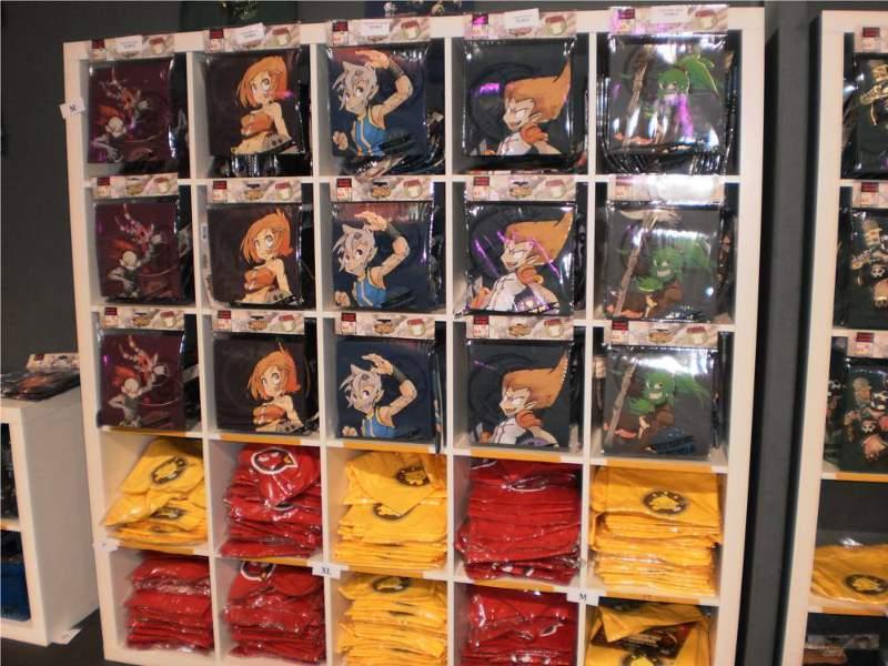 Tshirts à l'ankama shop du salon Ankama Convention #6
