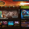 Page d'accueil battle .net, le site officiel de World of Warcraft
