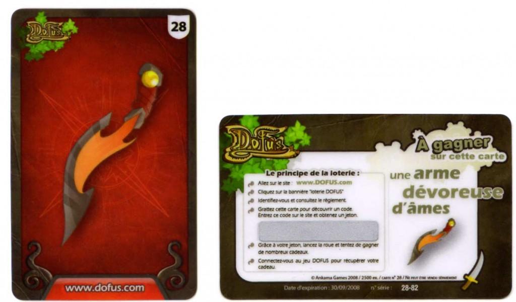 Carte de Loterie Dofus fournie avec la BD les Shushus de Rushu
