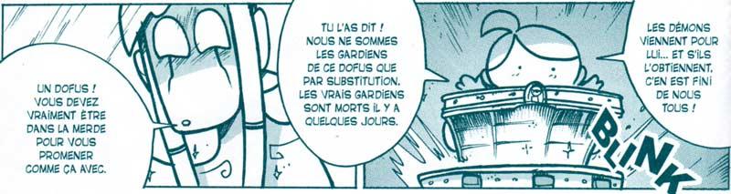 Djidjie montre le Dofus Emeraude à Goultard