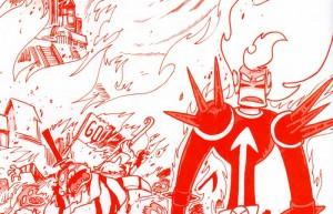 A cause de la haine qui l'anime, Goultard se transforme en Dark Vlad
