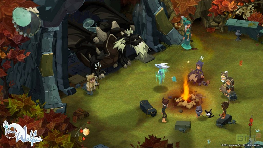Sur cette capture on peut reconnaître Grougaloragran (Islands of Wakfu - Xbox Live Arcade)
