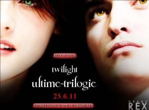 Image d'annonce de la diffusion des trois premiers Twilight au Grand Rex le samedi 25 Juin