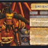 Jeu de plateau World of Warcraft : Fiche boss 4 joueurs de Lord Kazzak