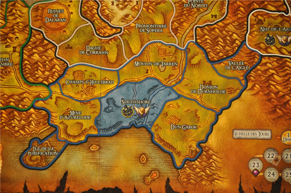Jeu de plateau World of Warcraft : zoom sur la zone Austrivage