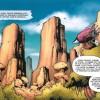 Lo'gosh et Broll prennent la direction des Pitons du Tonerre sur un vaisseau Gobelin (World of Warcraft bande-dessinées Tome 2 : l'appel du destin)