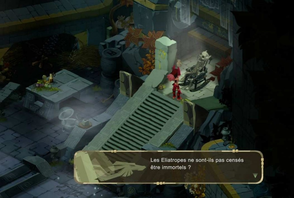 Le squelette de Chibi a des cornes (Islands of Wakfu)